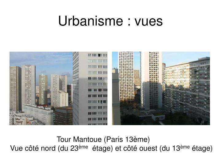Urbanisme : vues