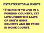extraterritorial rights