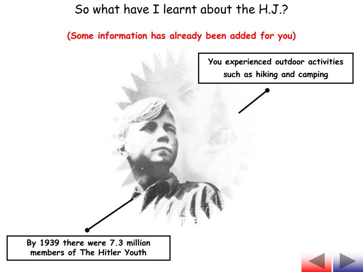 So what have I learnt about the H.J.?