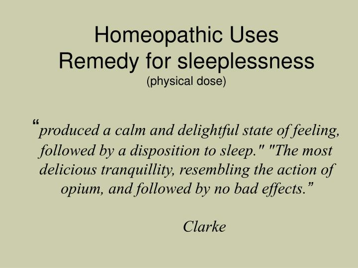 Homeopathic Uses