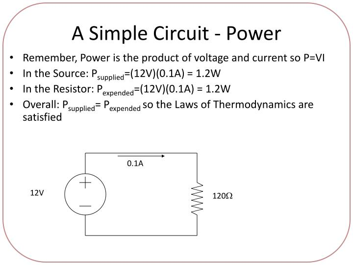 A Simple Circuit - Power