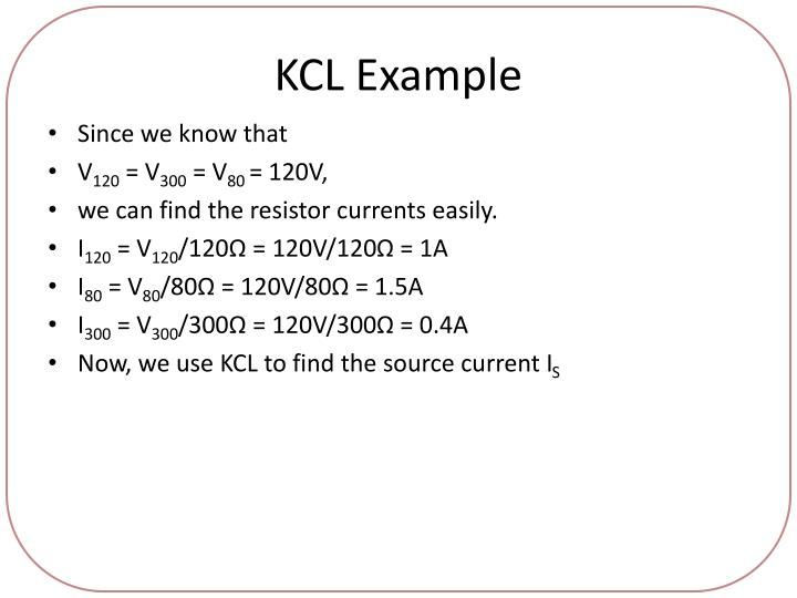 KCL Example