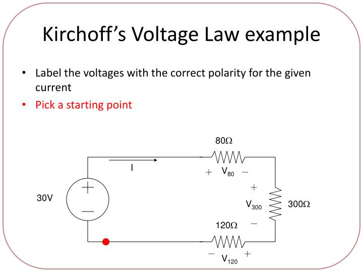 Kirchoff's Voltage Law example