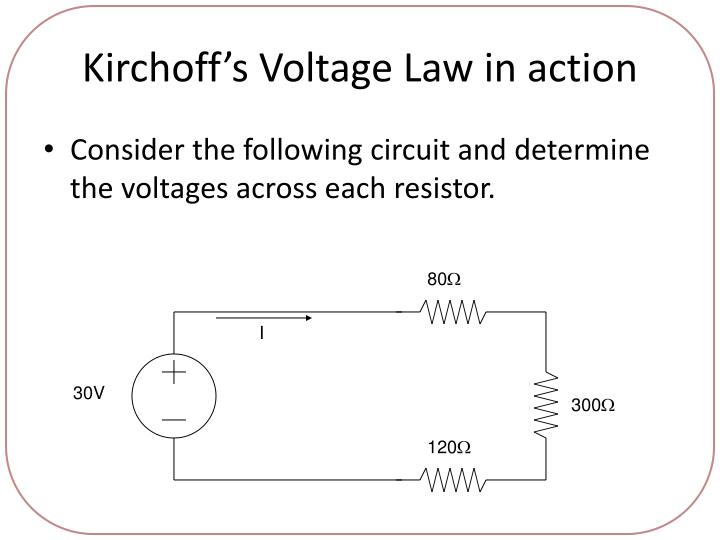 Kirchoff's Voltage Law in action