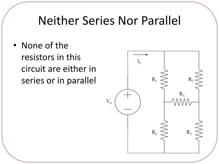 Neither Series Nor Parallel