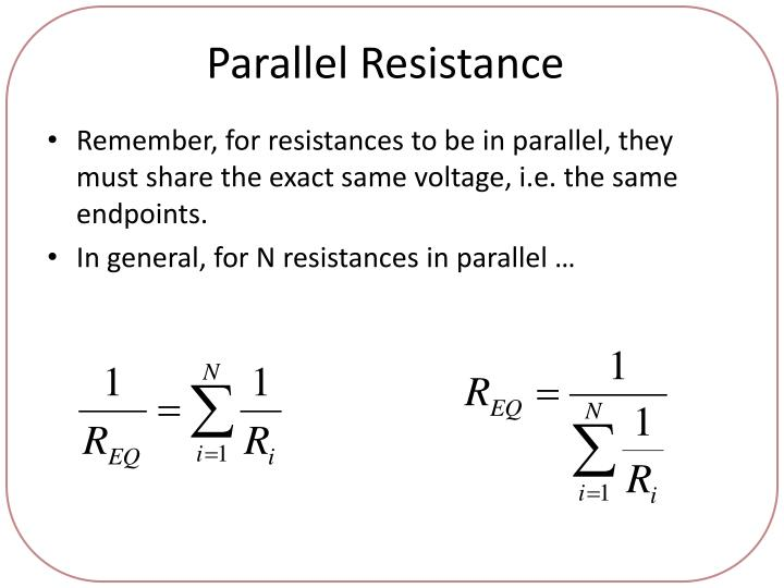 Parallel Resistance