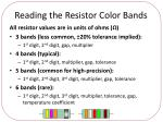 reading the resistor color bands