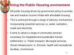 defining the public housing environment