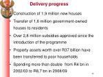 delivery progress