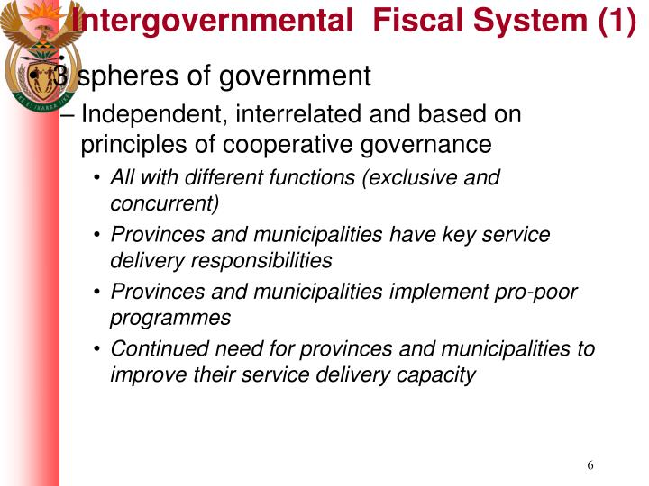 Intergovernmental  Fiscal System (1)