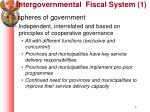 intergovernmental fiscal system 1