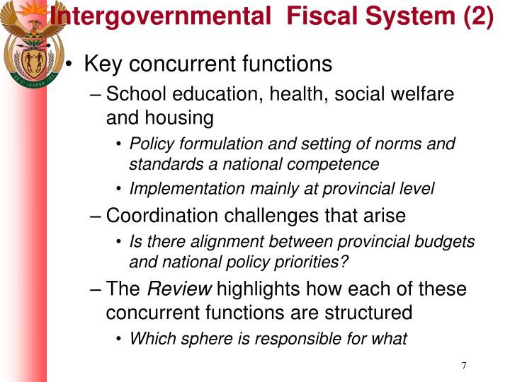 Intergovernmental  Fiscal System (2)