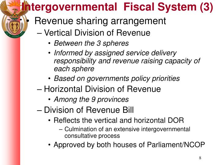 Intergovernmental  Fiscal System (3)