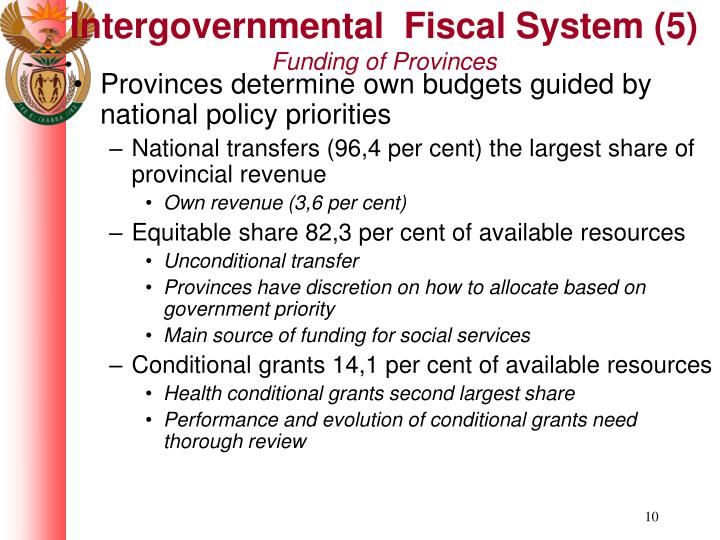 Intergovernmental  Fiscal System (5)