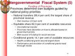 intergovernmental fiscal system 5 funding of provinces