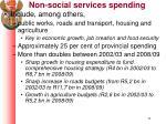 non social services spending