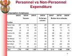personnel vs non personnel expenditure