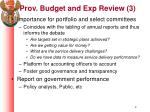 prov budget and exp review 3