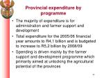 provincial expenditure by programme1