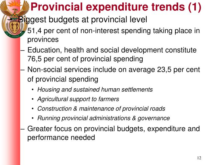 Provincial expenditure trends (1)