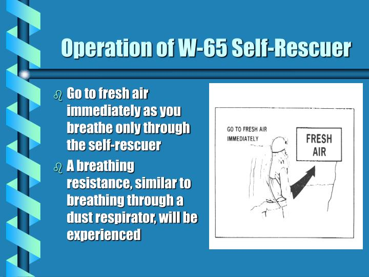 Operation of W-65 Self-Rescuer