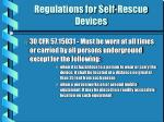 regulations for self rescue devices1