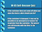 w 65 self rescuer quiz4