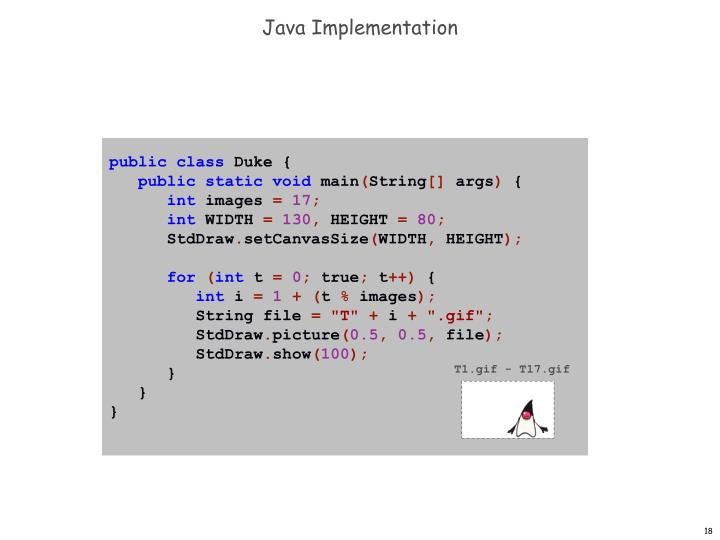 Java Implementation