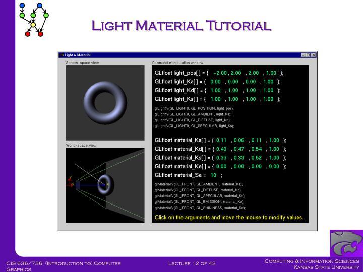 Light Material Tutorial