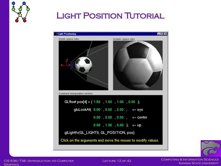 Light Position Tutorial