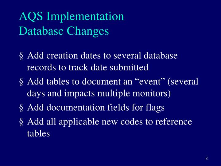 AQS Implementation