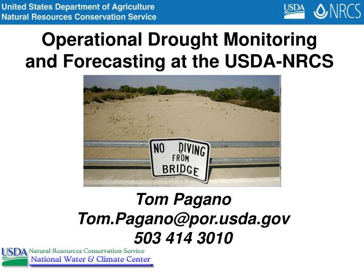 Operational Drought Monitoring