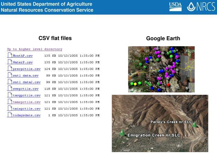 CSV flat files