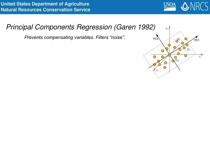 Principal Components Regression (Garen 1992)