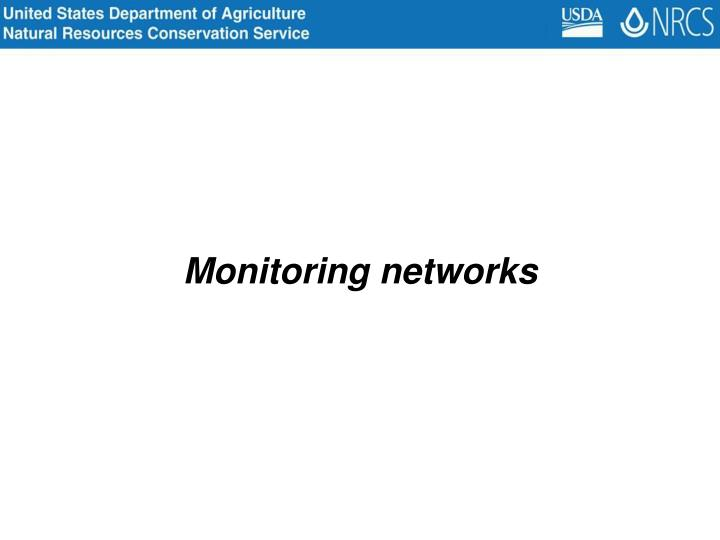 Monitoring networks