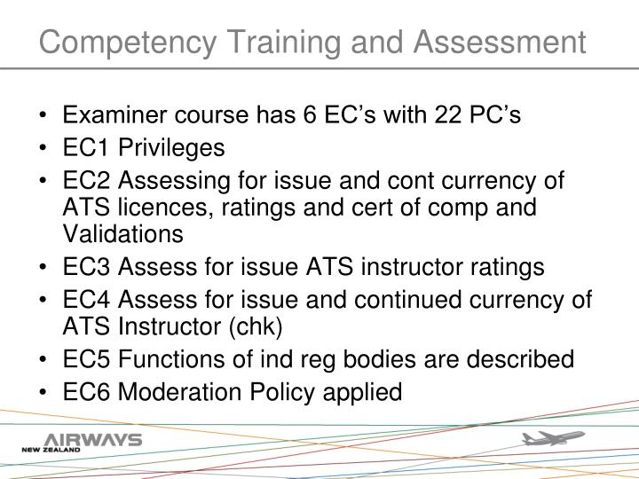 Competency Training and Assessment