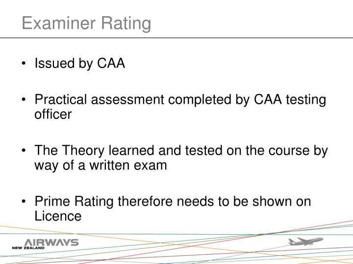 Examiner Rating