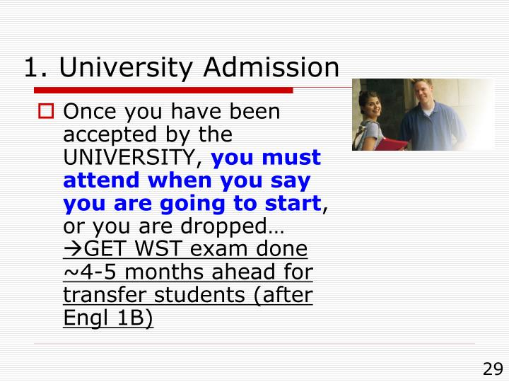 1. University Admission