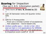 scoring for impaction see pg 2 b s information packet