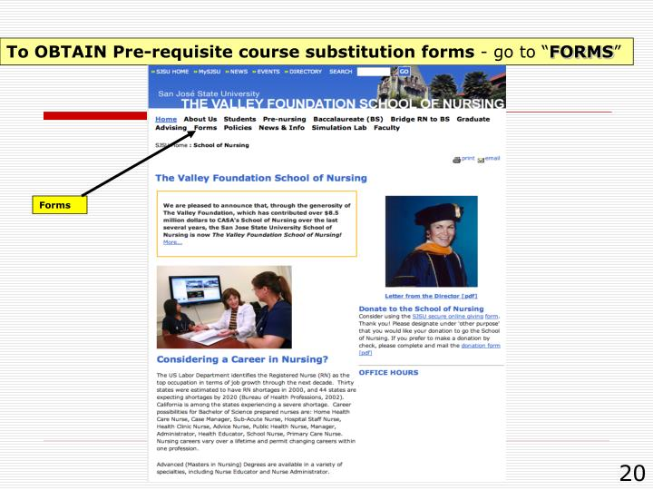 To OBTAIN Pre-requisite course substitution forms