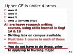 upper ge is under 4 areas