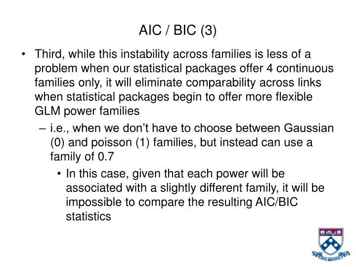 AIC / BIC (3)