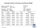 change family to poisson and rerun model