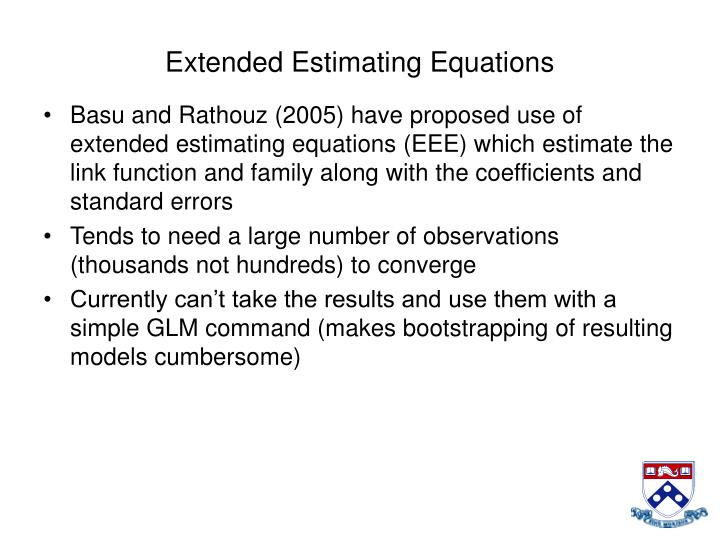 Extended Estimating Equations