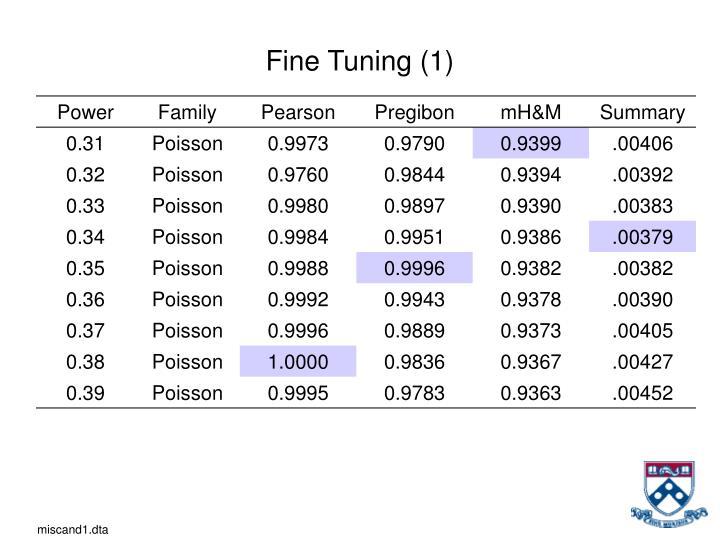 Fine Tuning (1)