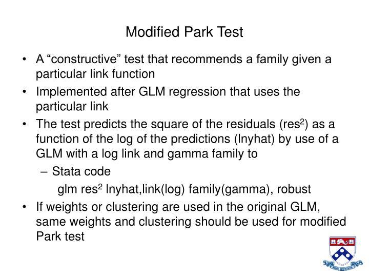 Modified Park Test