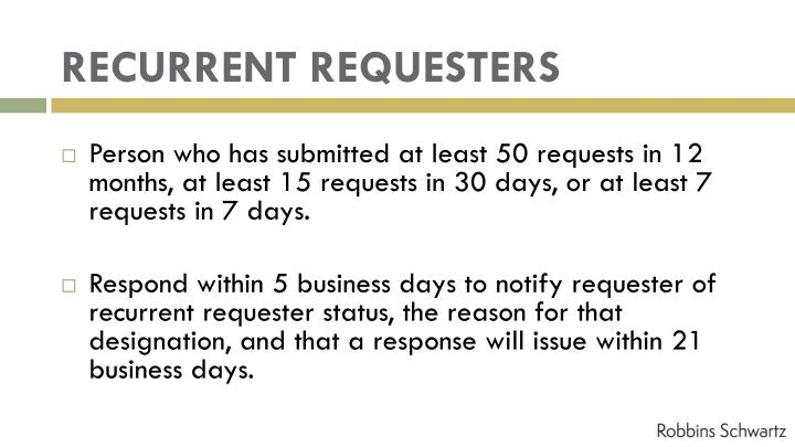 RECURRENT REQUESTERS