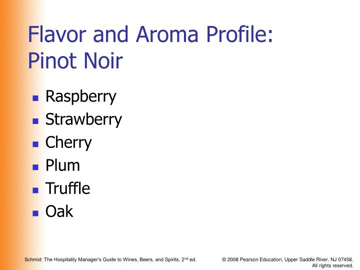 Flavor and Aroma Profile: