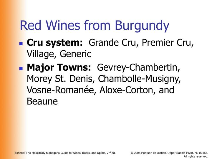 Red Wines from Burgundy
