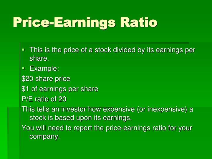 Price-Earnings Ratio